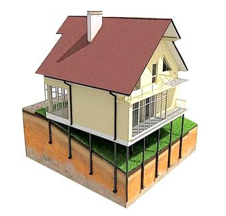 Фундамент для дома 10х12м (42 сваи Ø76)
