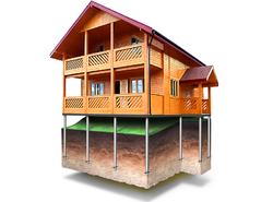 Фундамент для дома 6х10м (24 сваи Ø76)